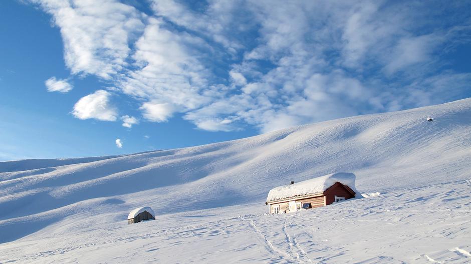 FRISTENDE: Sogndal Turlags hytte Grøssete er et supert sted for en skihelg.