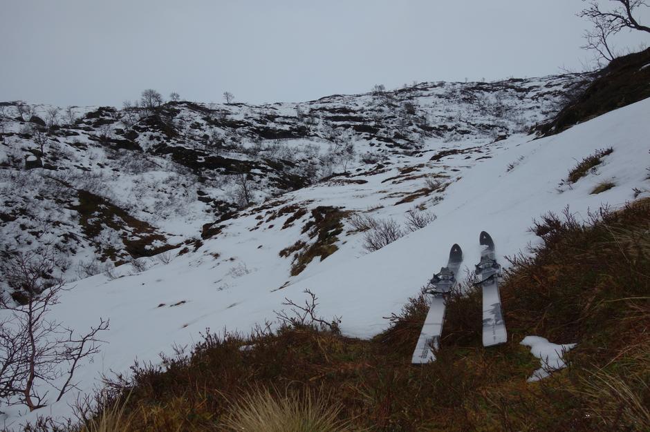 Søndag 26.1: rute Kvitingen - Høgabu. Ved Herfangen, ca. 600 moh.