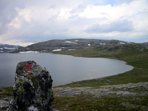 Oddvyrevatnet, på veg til Tyssevassbu