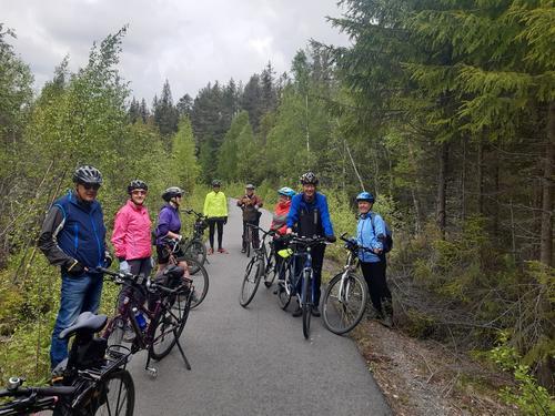 8. juni hadde Seniorgruppa årets sykkeltur langs Valdresbanevegen