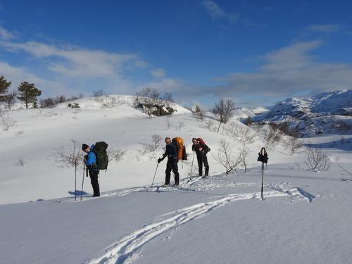 Ein kjekk gjeng som gjekk turen i fjord:-)
