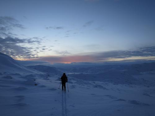 Mot Bossbu i november - årets første skitur.