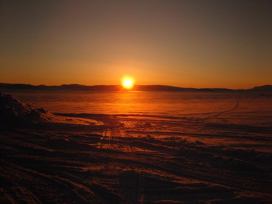 solnedgang på Hardangervidda Foto: DNT Oslo og Omegn
