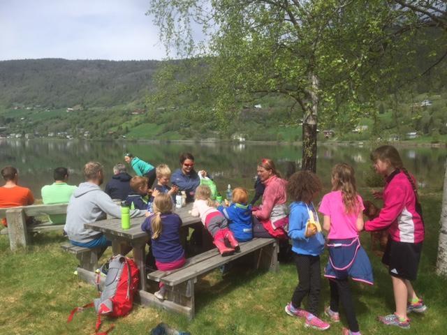 Sykkeltur til Holsfjorden med Barnas Turlag