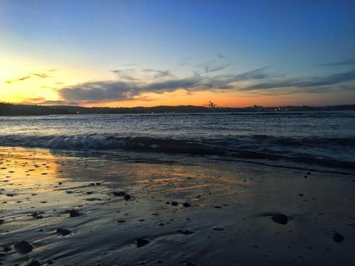 Jordetstranda i Stavern i solnedgang