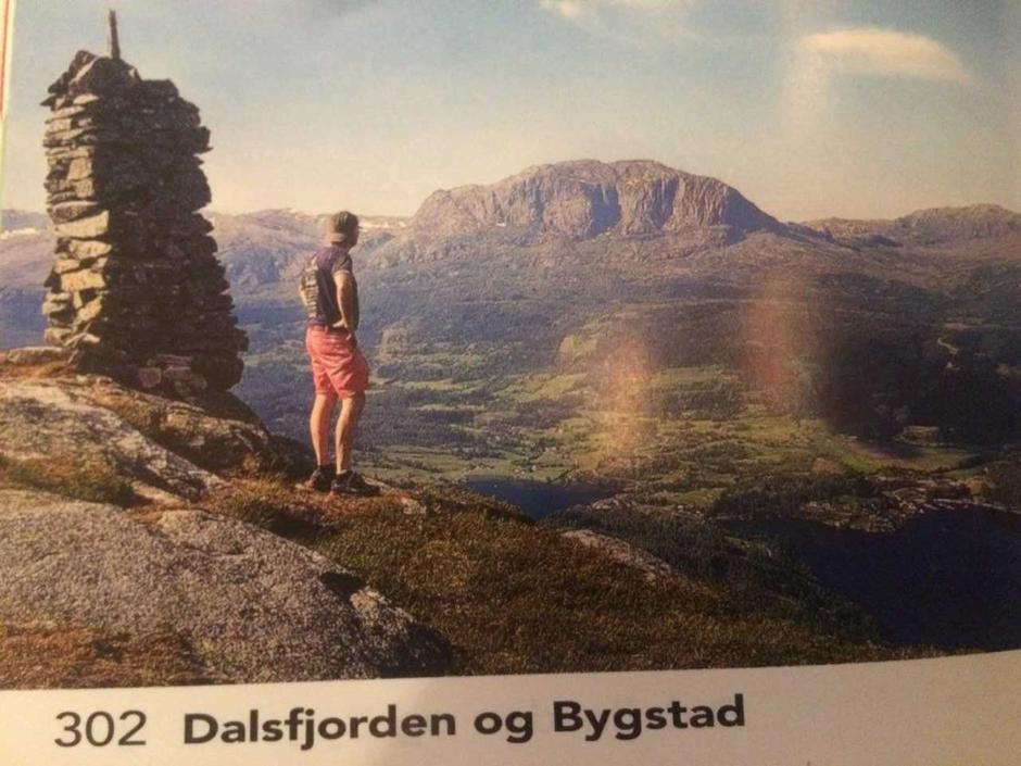 Utsikt frå Fløyen. Foto i Opptur Sunnfjord.