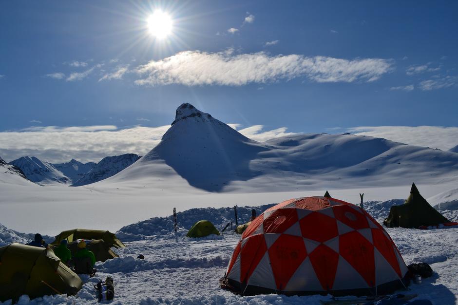 Utsikt fra Campen på Leirvassbu 2015