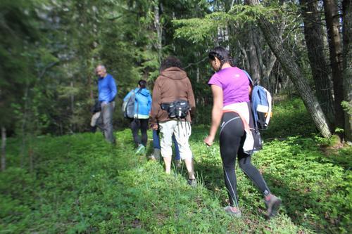 Flerkultruell turgruppe første vårtur