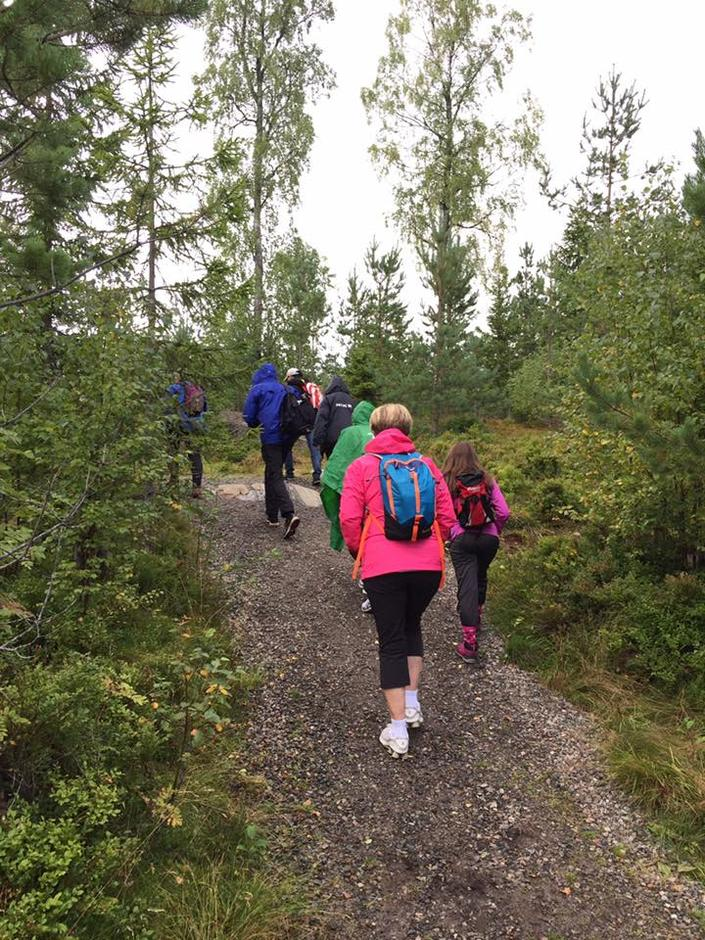 Ullensaker Turlag arrangerer mange turer. Her fra tur til Hovinfjellet.