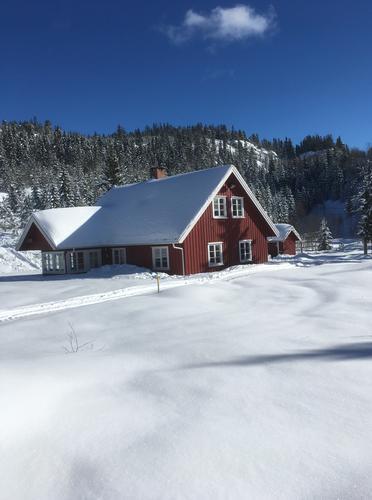 Nyt vinteren på en ubetjent hytte