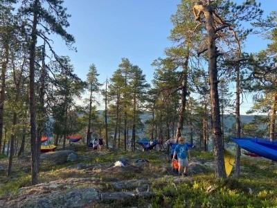 13.-14. juni hadde Barnas Turlag hengekøyetur til Skjellungskampen
