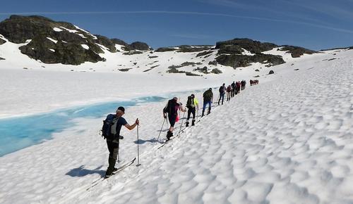 Årets sommarskiturar på Haukelifjell blant dei finaste og mest vellukka!