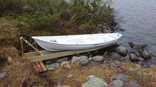 Nå er båten klar ved Øyungshytta