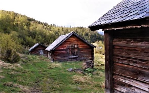 Haugastølen, fra den historiske vandreruta Stølsrute i Valdres som åpnes i 2018.