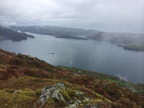 Utsikt frå Agdesteinfjellet
