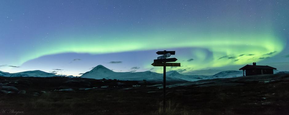 Akkurat som nordlyset, når Troms Turlag stadig nye høyder. Her ei nydelig stund på Gappo.