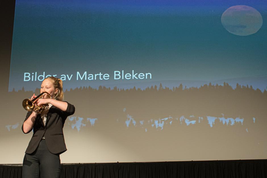 """Thilde Ribe Olsen spilte """"Vidda"""" på trompet."""