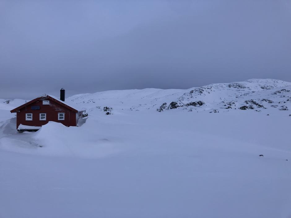 Krossvatn. Bra med snø og godt føre over 800 meter.