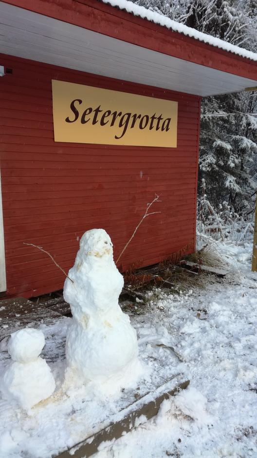 Årets første  snømenn!