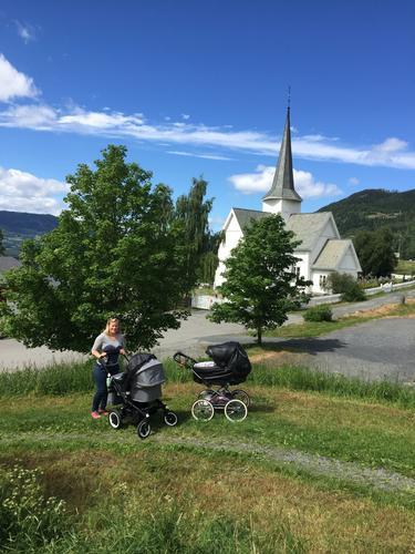 20. juni hadde Barnas Turlag trilletur fra Aurdal kirke til Stenberg
