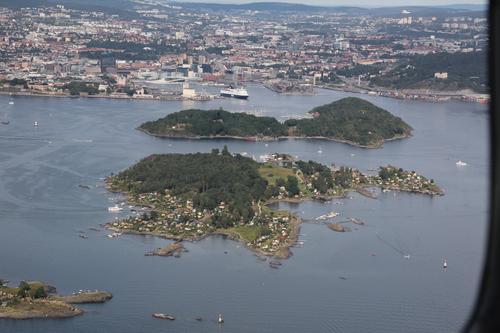 Lindøya, med Hovedøya og Oslo i bakgrunnen