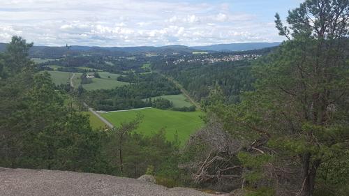 Utsikt fra Rødåsen mot Røyken