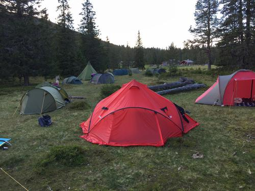 Barnas Turlag Notodden på telttur til Gavlesjå