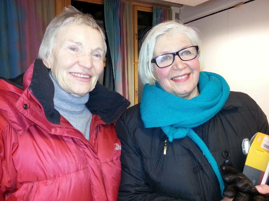 To sentrale damer i seniorgruppa i Alta: Helga Maisehölder og Berit Frost