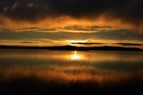 Solnedgang på Hardangervidda