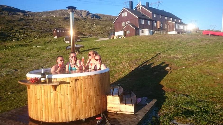 På Geiterygghytta har det vært topp stemning og badevær gjennom hele sommeren.
