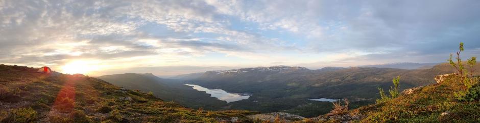 Panorama fra Nevlingkollen.