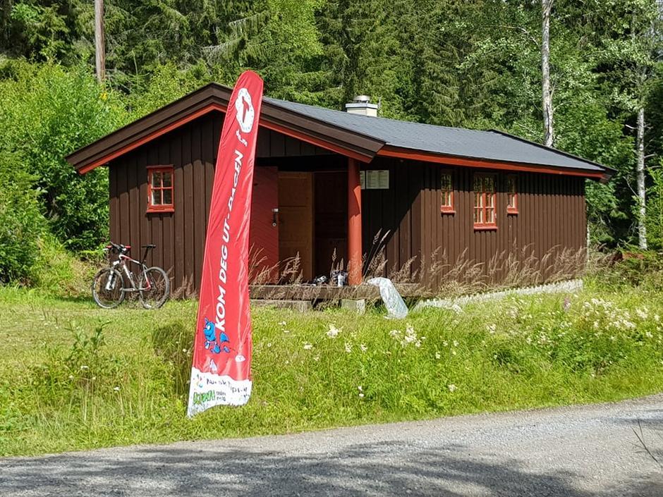 Lørenskog Turlag sin nye hytte ved Fiskelausa i Østmarka