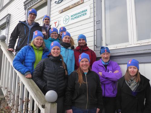 Ferske turlederne fra kurs med Troms Turlag i april  2016.