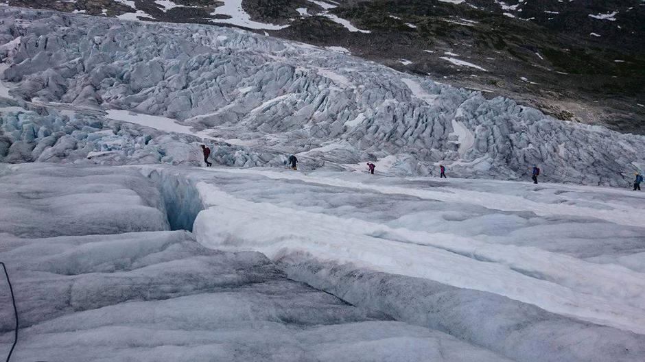 Fåberstølsbreen, en brearm av Jostedalsbreen