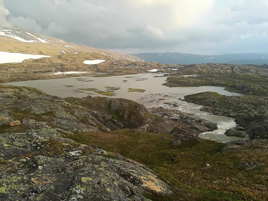 Utsikt mot Gråfjellhytta