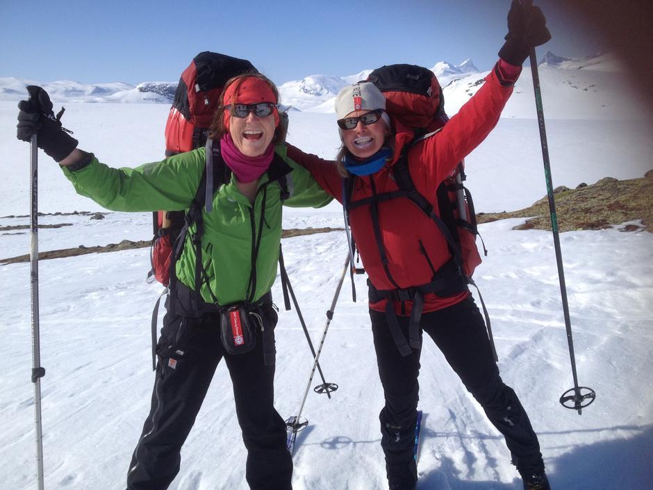 Glade fjellskiløpere