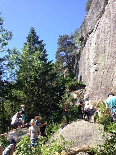 Super dag i klatreveggen