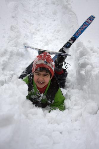 Yosef på skikurs