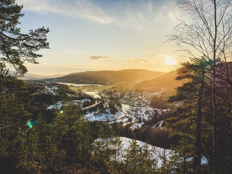 Flott utsikt fra Kåfjellåsen!