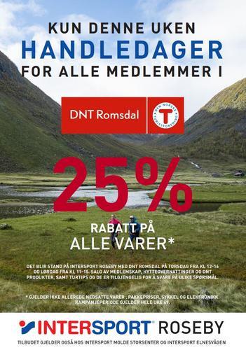 25% rabatt på lokale Intersport-butikker!