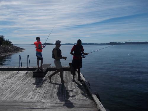 Fiske fra brygga