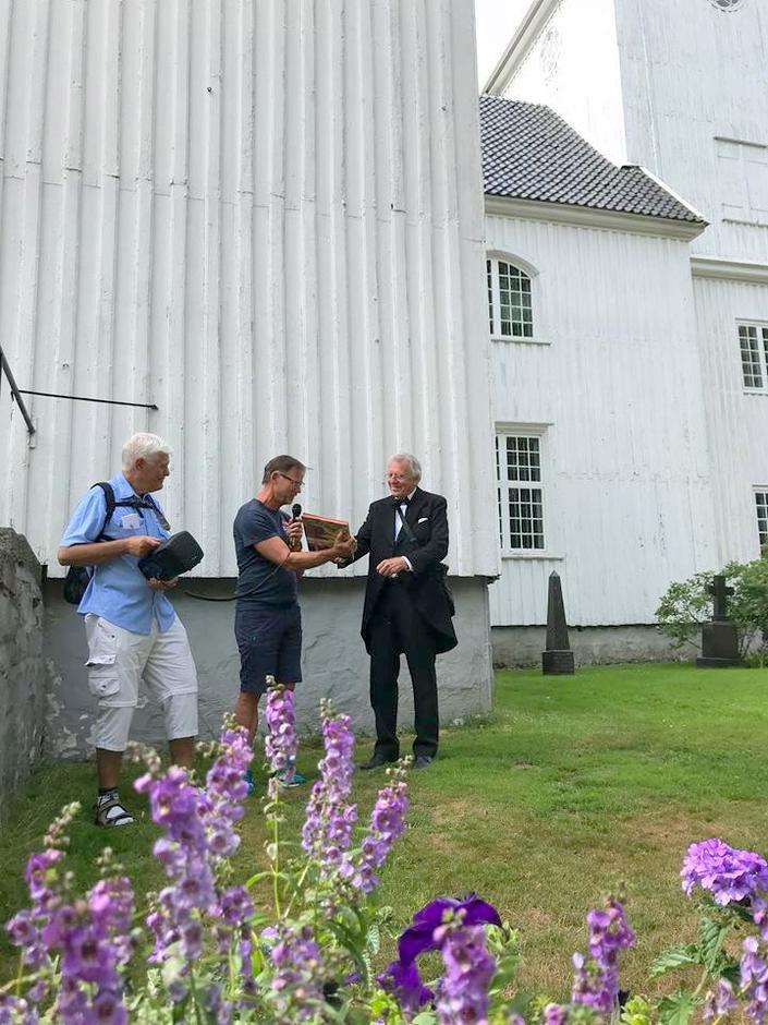 En hilsen fra styreleder Ragnar Standal til guiden for en flott byvandring