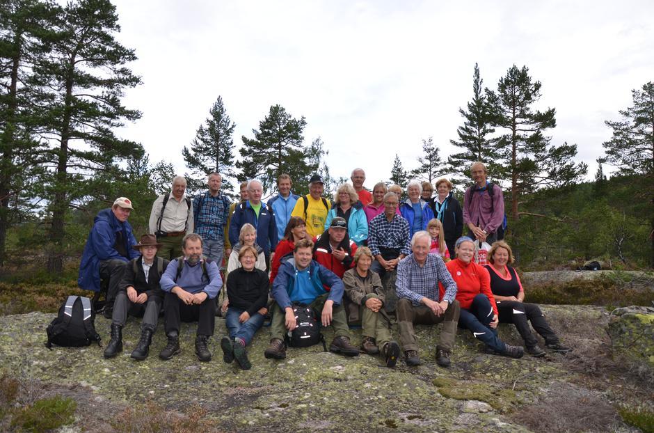 Saltveien, fra åpningstur: Åpningsturen på Saltveien gikk i 2014, men arrangøren håper på like god oppslutning til årets vandring på søndag.