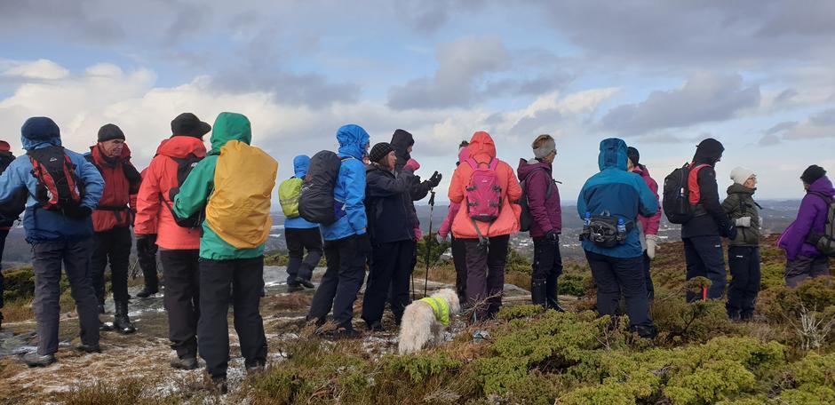 På Skjenet kunne vi nyte en fantastisk utsikt.