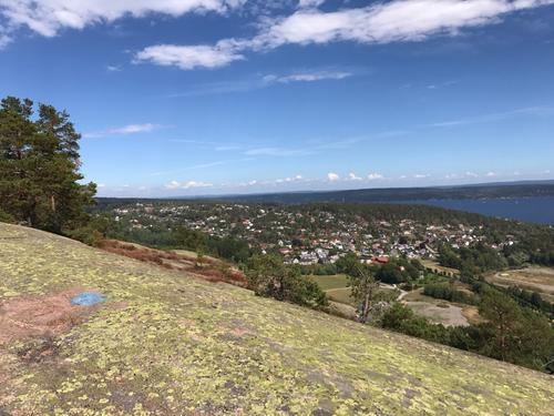Utsikt fra Toftefjell.
