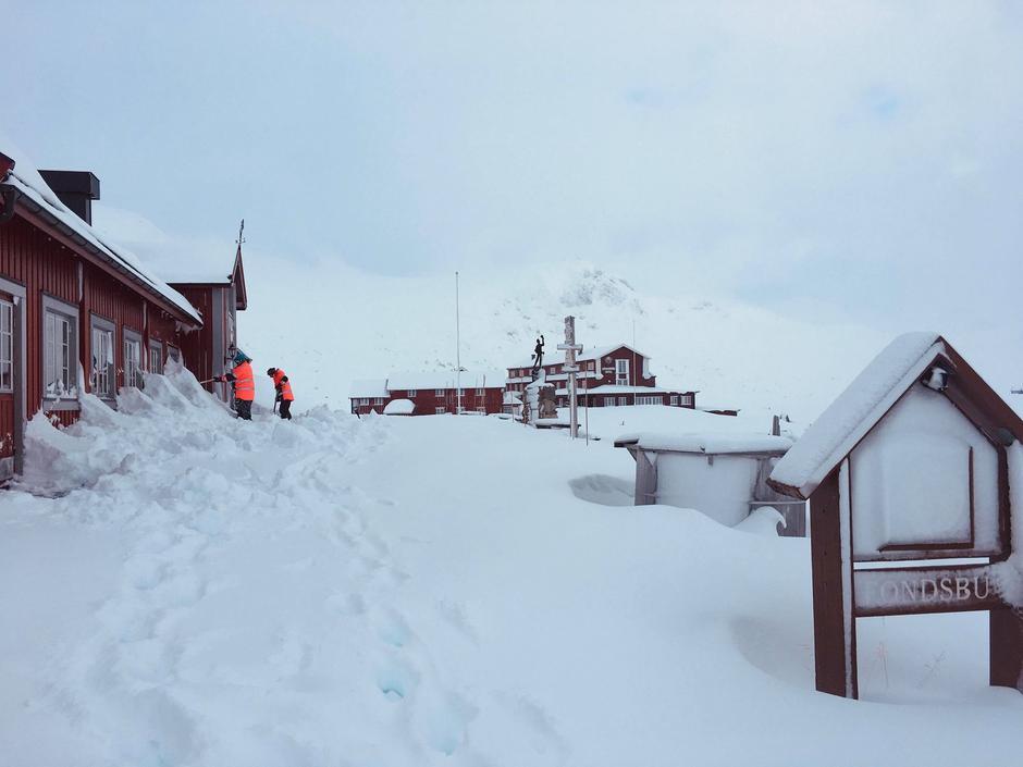30 cm. nysnø oppå skarelag ved Fondsbu den 31. januar 2020