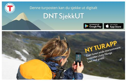 SJEKK UT - ny turapp fra DNT