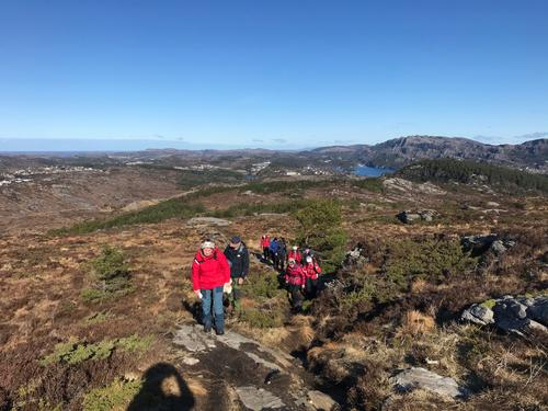 Tirsdagsgruppa sin tur til Storaskjenet den 16.mars 2021