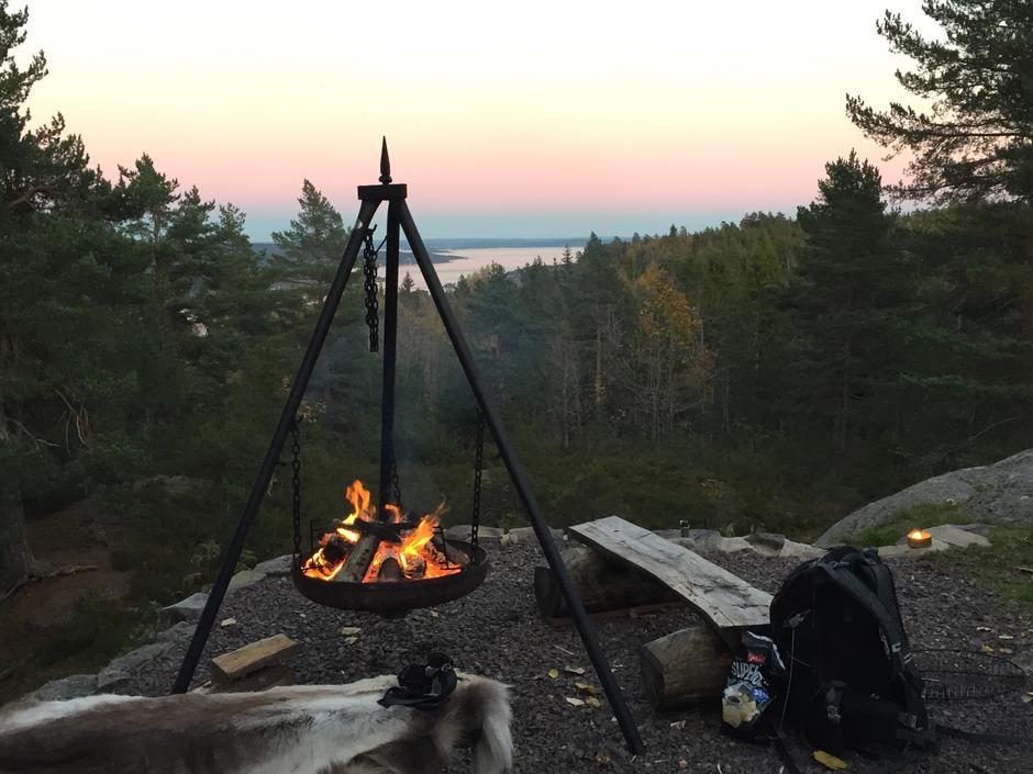 Bålpanne på Brannåsen