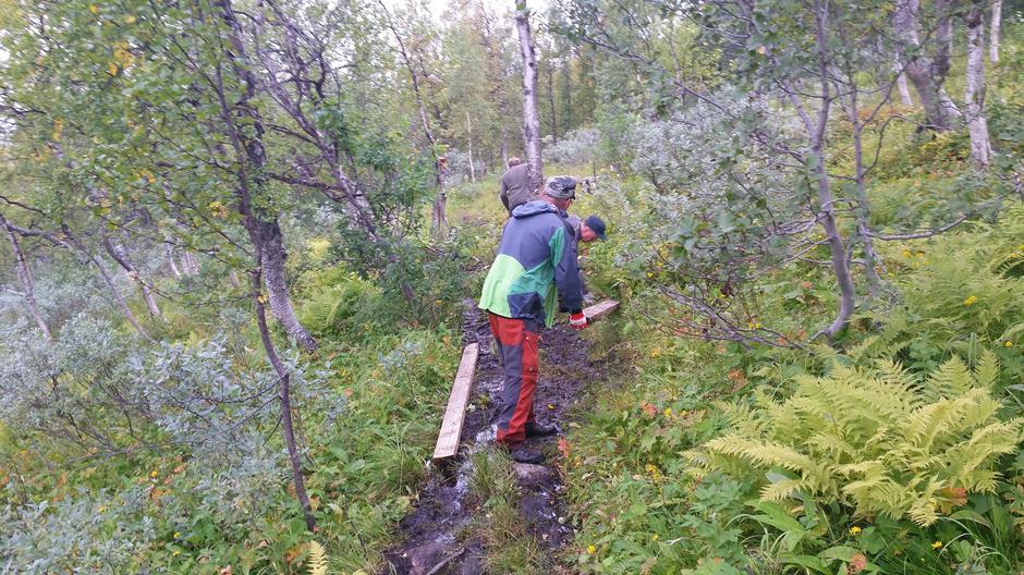 Klopping mellom Altevasshytta og Gaskas. Her ser vi Magnar Uvsløkk, Ronny Jensen og Vidar Jensen i aksjon!